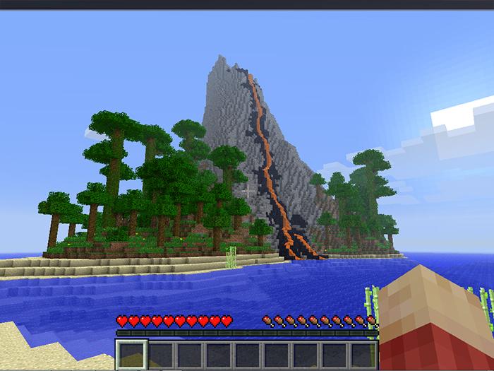 Как сделать свой остров в minecraft 967